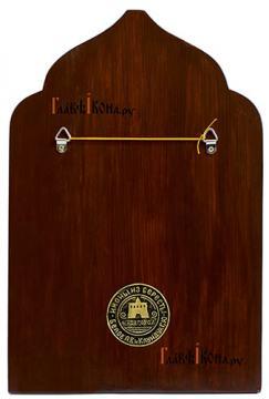 Тихон Белавин, патриарх Московский, писаная икона из бересты - вид задней стороны