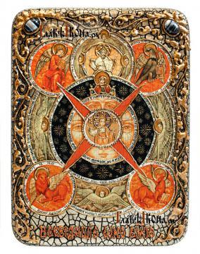 Всевидящее око, икона на дубовой доске в подарочном футляре