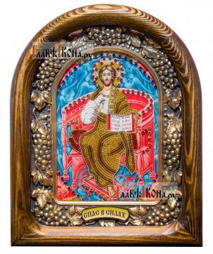 Спас в Силах, икона из бисера, артикул ДВ71081