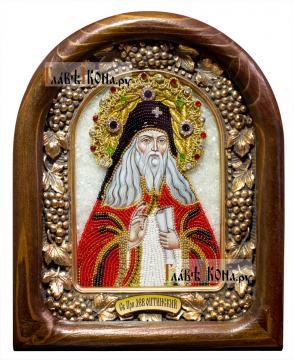 Лев Оптинский, икона из бисера, артикул ДВ71143