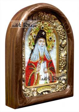 Лев Оптинский, икона из бисера, артикул ДВ71143 - вид сбоку