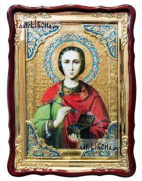 Великомученик Пантелеимон Целитель, храмовая икона, размер 60х80 см