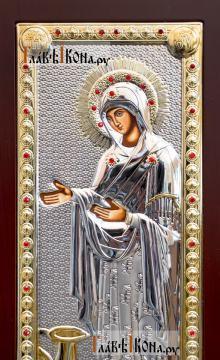 """Божия Матерь """"Геронтисса"""", икона в серебряном окладе, производство Греция - Святой лик"""
