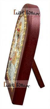 Святой Николай Чудотворец, икона в серебряном окладе, производство Греции - вид сбоку