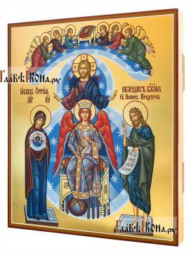 София - Премудрость Божия, писанная темперой икона, артикул 409 - вид сбоку