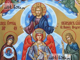 София - Премудрость Божия, писанная темперой икона, артикул 409 - детали