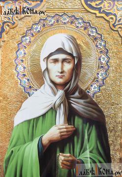 Блаженная Матрона Московская, храмовая икона 60х80 см - лик Святой