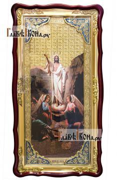 Воскресение икона, храмова икона, размер 61х112 см