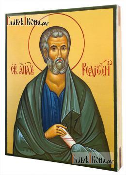 Апостол Родион, писаная икона на деревянной доске, артикул 6251 - вид сбоку
