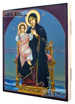 """Божия Матерь с Младенцем (""""Васнецовская Богоматерь""""), рукописная икона"""