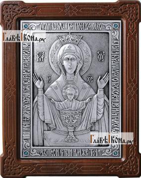 Неупиваемая Чаша, икона из серебра, артикул 11175