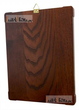 Пресвятая Троица, серебряная икона со стразами, артикул 11169 - вид сзади