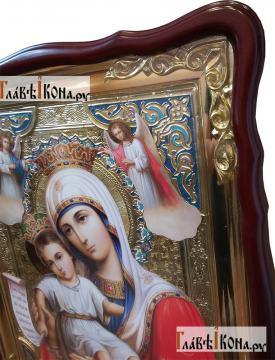 Достойно есть Божия Матерь, икона храмовая, артикул 50262 - вид образа сбоку