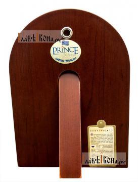 Спас Премудрый, посеребряная икона в деревянной рамке, артикул mae1107 - вид сзади