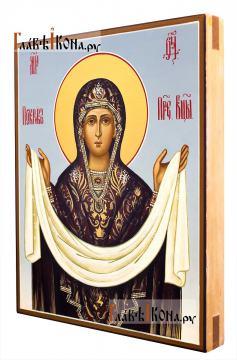 Покров Пресятой Богородицы икона артикул 275 - вид сбоку