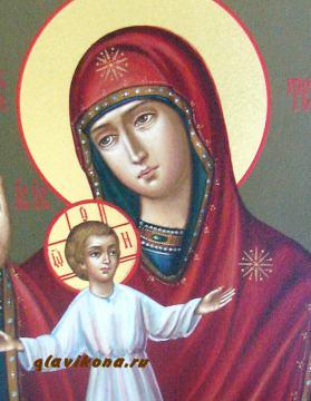 Теребенская икона Богородица - детали образа