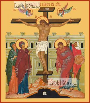 Распятие Господа нашего Иисуса Христа, икона печатная, артикул 90364