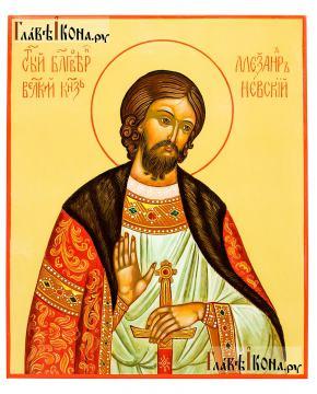 Александр Невский, писаная икона. без золочения, артикул 6253