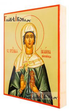 Писаная икона Иоанны Мироносицы (без золочения), размер 13х16 см - вид сбоку