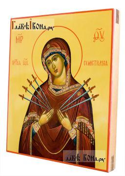 Семистрельная икона Божией Матери, артикул 288 - вид сбоку