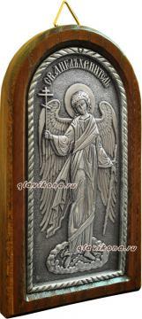 Ангел Хранитель, икона из серебра, артикул 11127 - вид сбоку