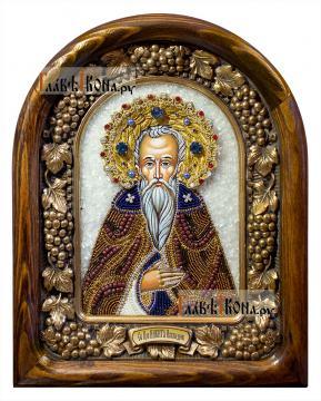 Никита Исповедник, дивеевская икона из бисера