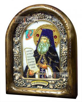 Силуан Афонский, дивеевская икона из бисера