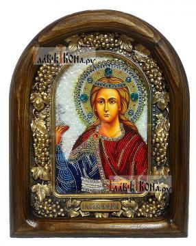 Василиса Никомидийская, дивеевская икона из бисера