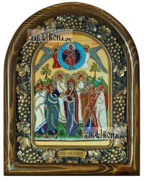 Вознесение Господня, дивеевская икона из бисера