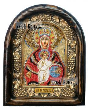 Державная Божия Матерь, дивеевская икона из бисера
