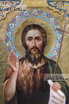 Иоанн Предтеча (Креститель) со свитком, 60х80 см - лик Образа святого