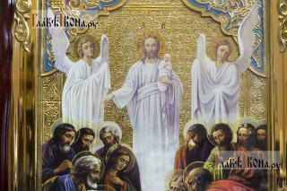 Успение Пресвятой Богородицы, храмовая икона 60х80 см - детали