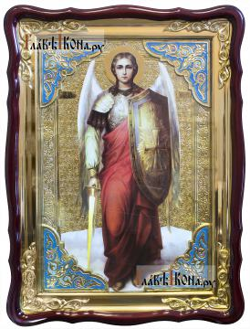 Архангел Михаил (ростовой, с мечом), храмовая икона 60х80 см