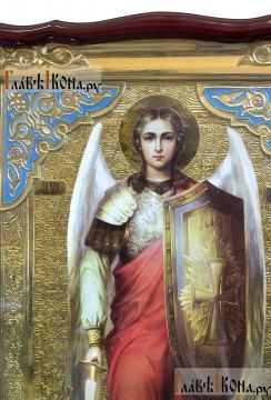 Архангел Михаил (ростовой, с мечом), храмовая икона 60х80 см - лик Образа