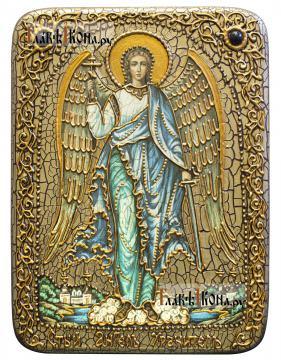 Ангел Хранитель (ростовой), икона под старину, один из вариантов оформления