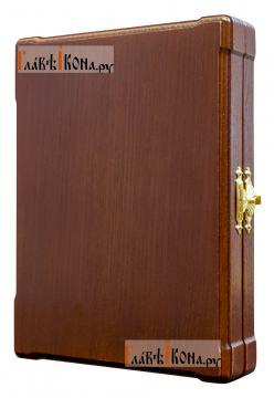 Складень с серебряными иконами, артикул 11183 - в закрытом виде, вид сбоку