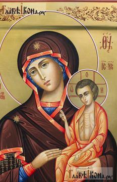 Нечаянная Радость, рукописная икона артикул 5313 - детали образа