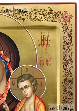 Нечаянная Радость, рукописная икона артикул 5313 - детали узора на полях