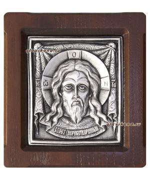 Образ Спаса Нерукотворного, серебряная икона, артикул 11131