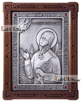 Святой Феодор Ушаков, адмирал - икона серебряная, артикул 11203