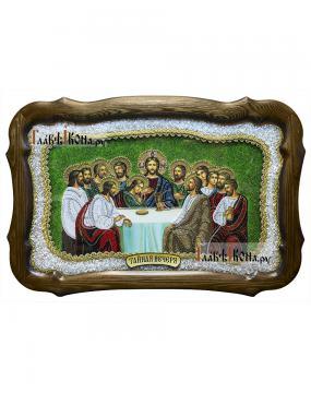 Тайная вечеря, икона из бисера, размер 36х54 см