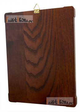 Савва Сторожевский преподобный, икона из серебра в деревянной рамке, артикул 11211 - вид сзади