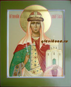Икона Святая Княгиня Ольга палех