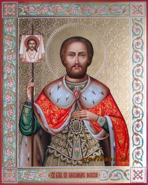 Резная икона Александра Невского, артикул 505
